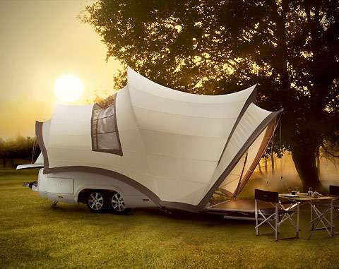 Luxuriously Portable Living Quarters Opera Luxury Camper Trailer