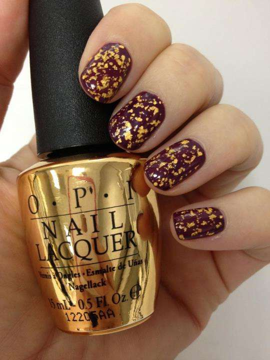 Cinematic Golden Nails