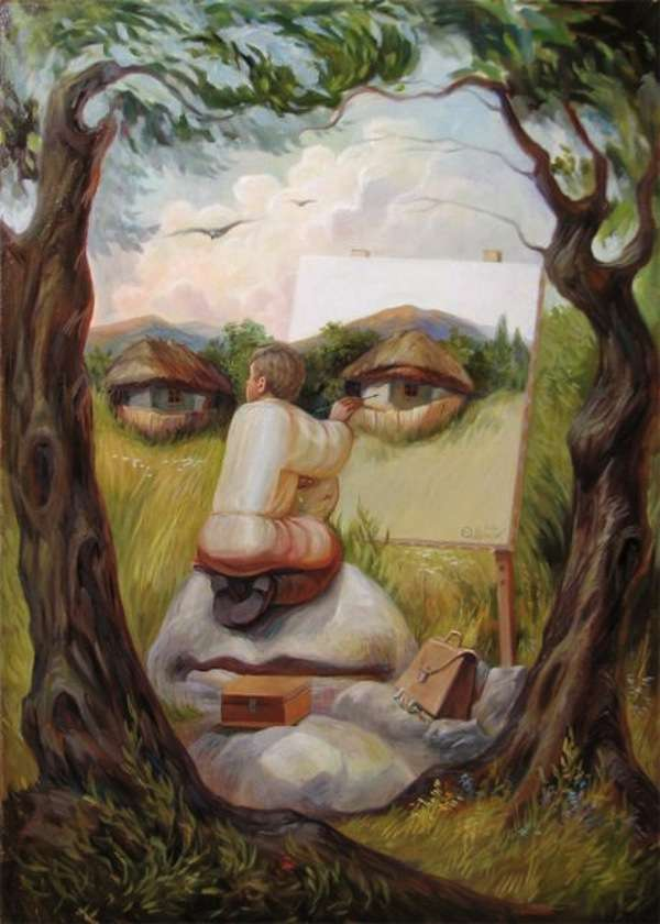 Dual-Perspective Paintings
