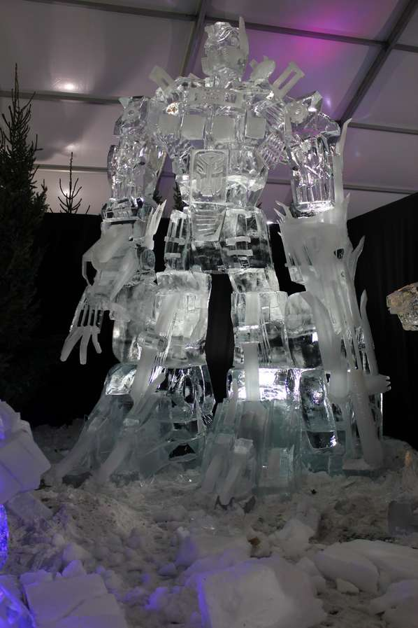 optimus prime in ice