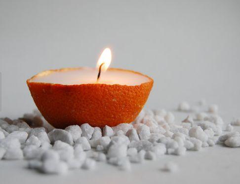Homemade Citrus Candles