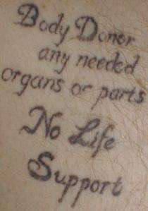 Organ Donor Tattoos
