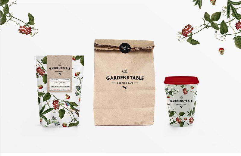 secret garden branding organic cafe branding