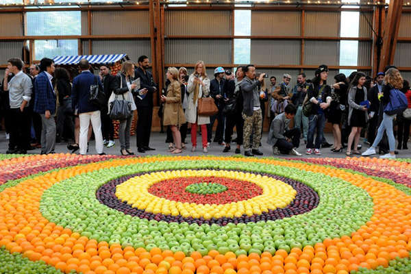 Elaborate Fruit-Based Tapestries