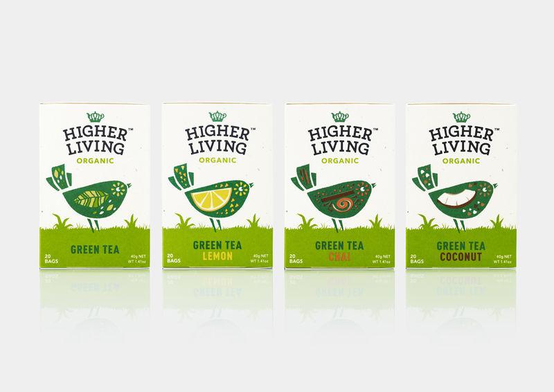 Feathered Ingredient Tea Packaging