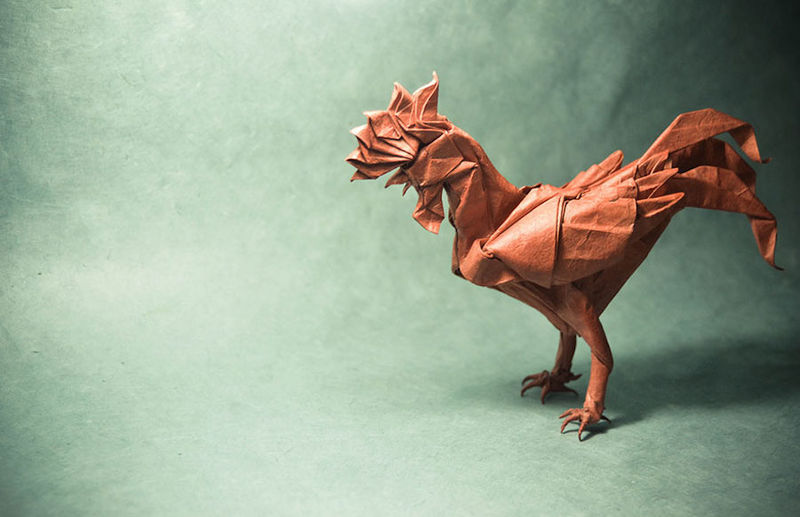 Intricate Origami Artwork