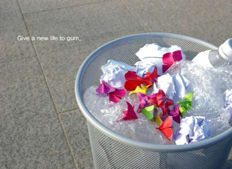 Turn Your Gum Into Origami Art