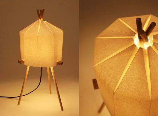 Interlocking Paper Lamps