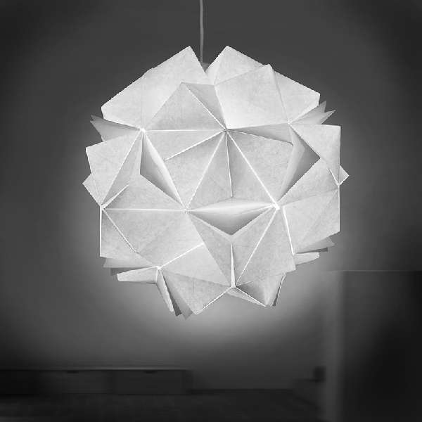 collapsible papercraft lighting origami light fixtures