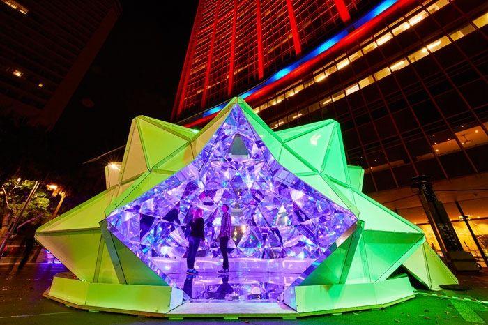 Origami Light Installations