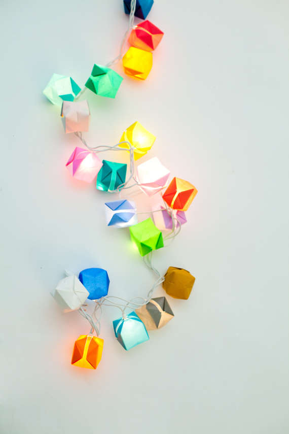 DIY Origami Box Lights : Origami Lights