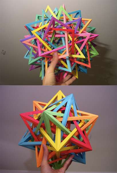 Interlocking Geometric Paper Art