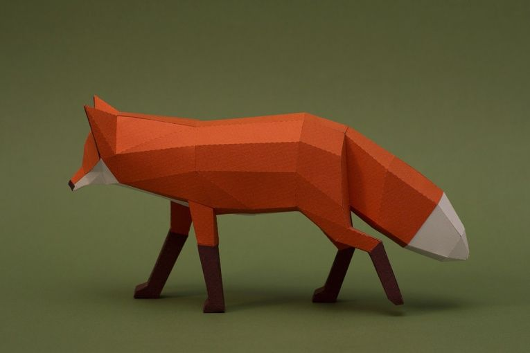 Paper-Made Wildlife Sculptures