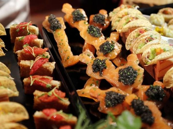 Gold-Infused Finger Foods