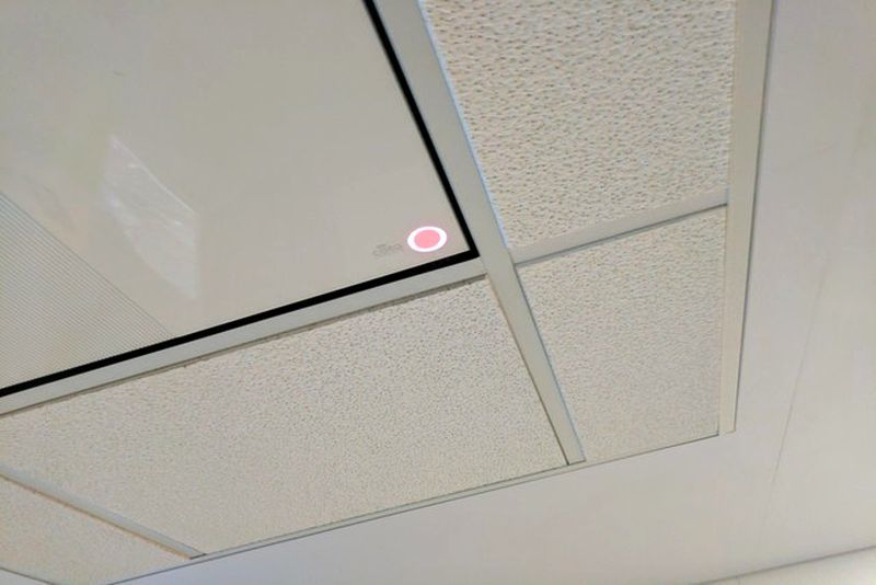 Device-Charging Ceiling Tiles