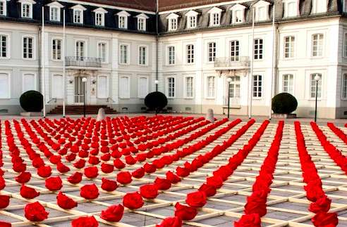 Sprawling Faux Flower Installations