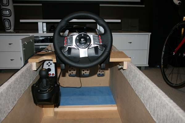 Concealing Gamer Pods Ottoman Racing Cockpit