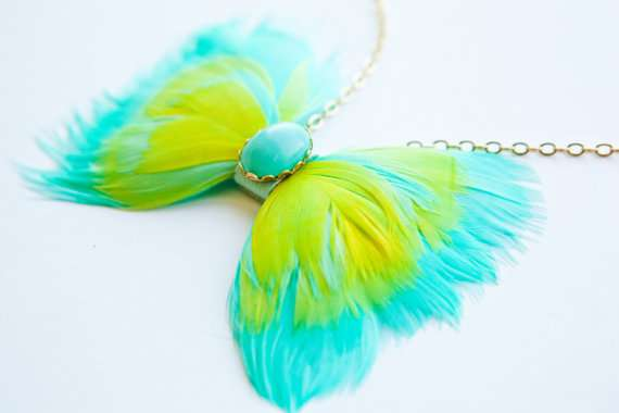 Feathered Bow Tie Accessories