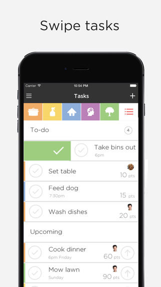 Incentivized Household Chore Apps