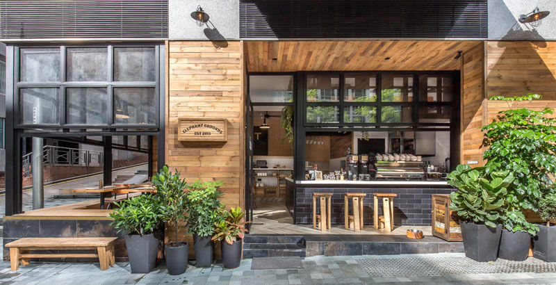 Rustic Outdoor Coffee Shops Shop