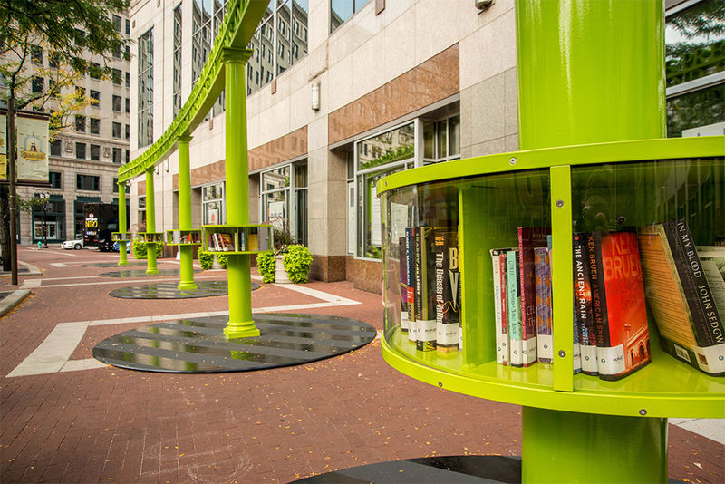 Pillar Themed Libraries Outdoor Library