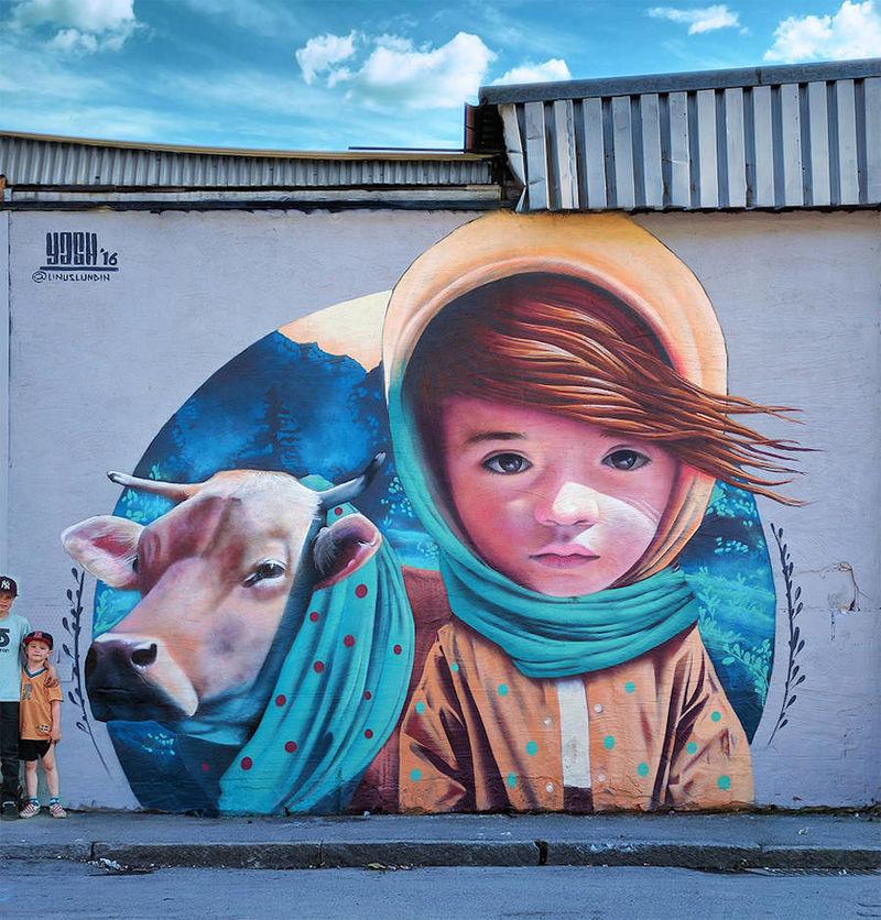 Childlike Outdoor Murals