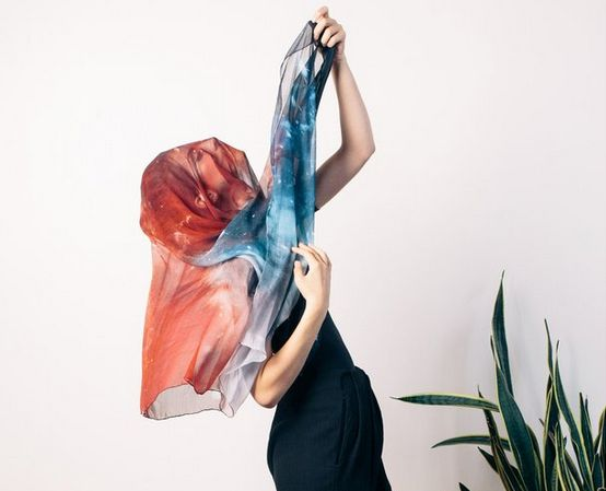Space-Inspired Scarves