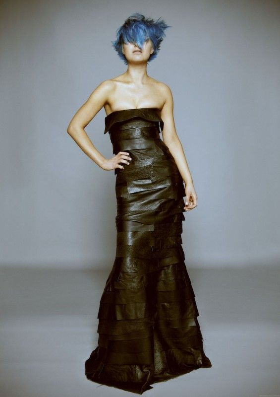 Edgy Leather Gowns