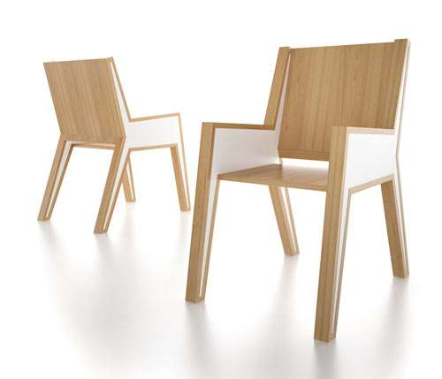 Simple silhouetted seats outline chair for Chair design basics