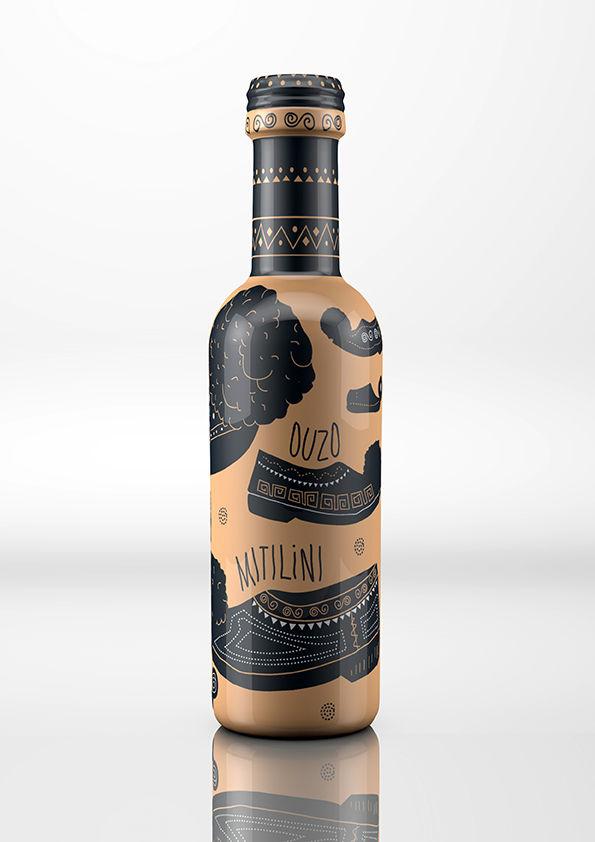 Greek Pottery Alcohol Bottles
