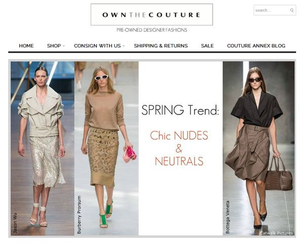 couture consignment sites own the couture