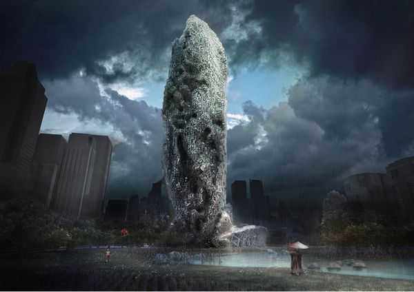 Otherworldly Eroding Architecture : Oxymoron Skyscraper