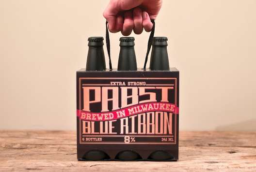 Pabst Blue Ribbon Packaging