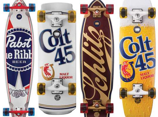 Booze-Bearing Skateboards
