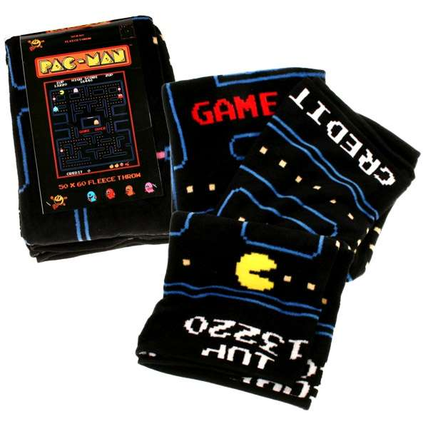 Arcade Gamer Blankets Pac Man Fleece