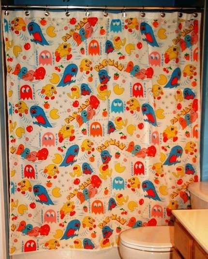 Pac-Man shower curtain