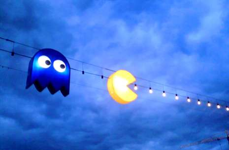 pac man streetlights