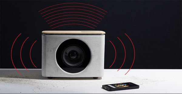 Tactile Concrete Speakers