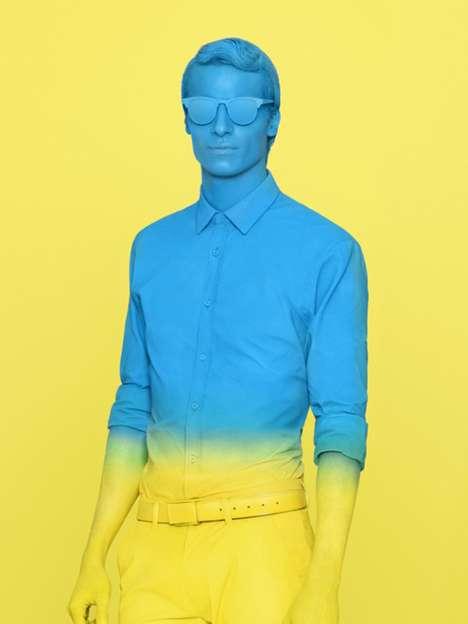 Color-Blocked Human Mannequins