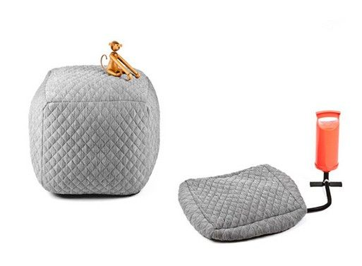 Inflatable Upholstered Ottomans