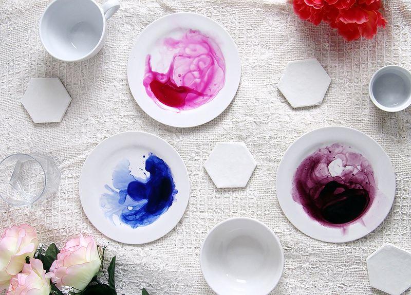 Artistic DIY Dishware