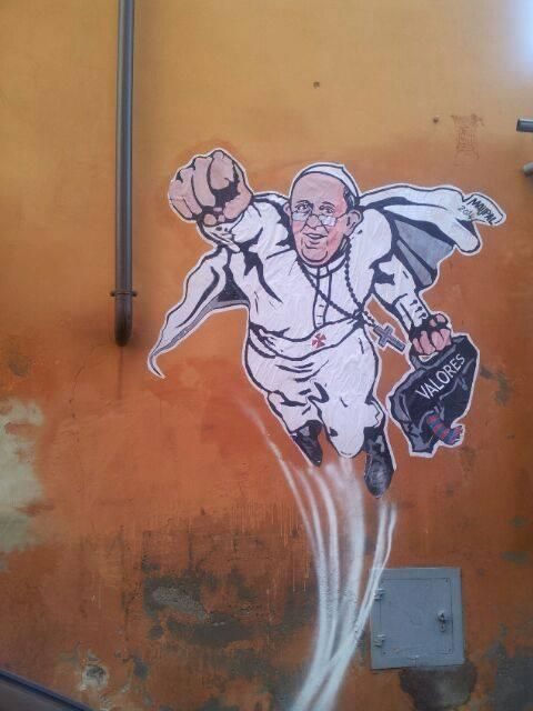 Papal Graffiti Pictures
