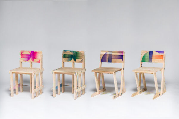 Pattered Pallet Chairs