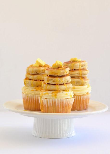 Pancake-Stacked Cupcakes