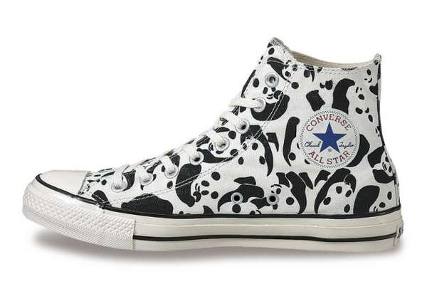 Panda Printed Sneakers Panda Shoes