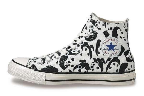 Panda-Printed Sneakers