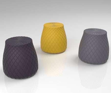 Net-Textured Ottomans