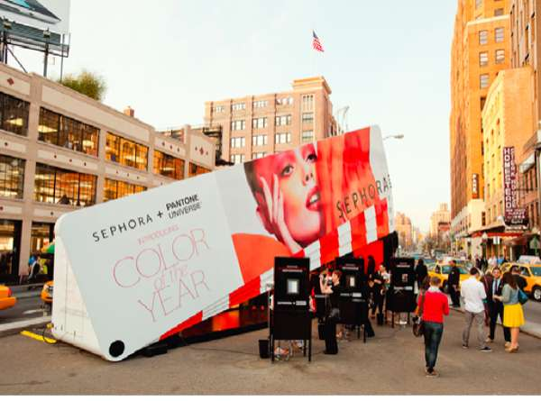 pantone and sephora pop up shop