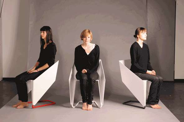 Folded Paper Chairs