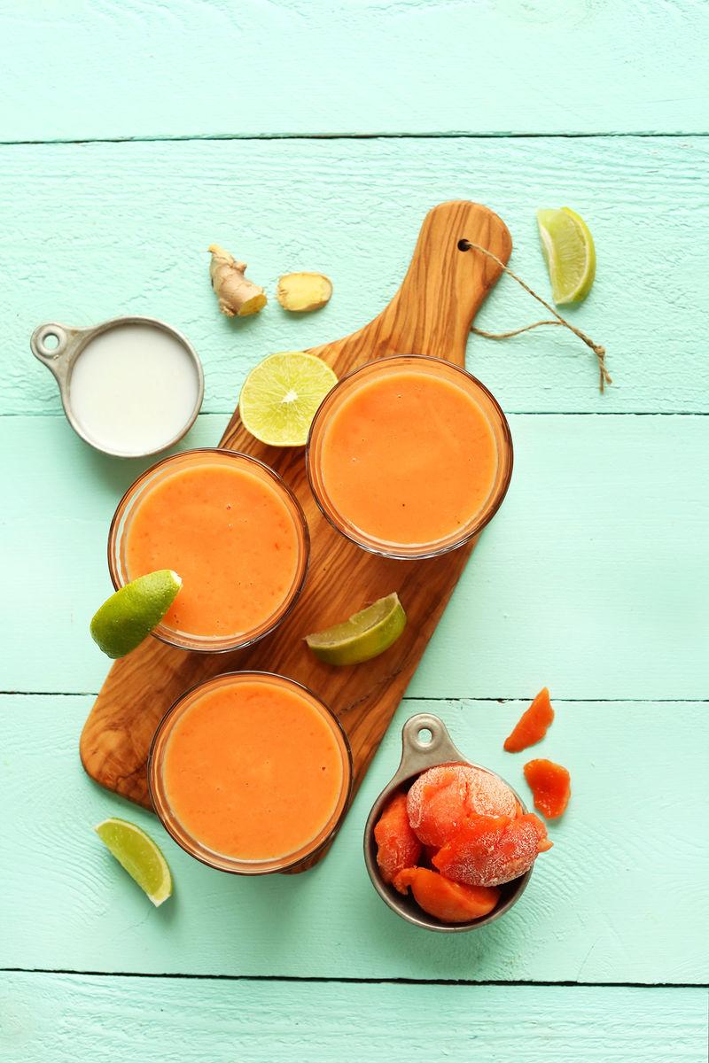 Dairy-Free Papaya Smoothies